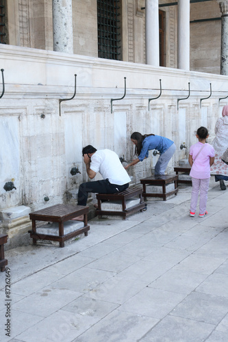 Fotografia, Obraz  Ablution Before Praying