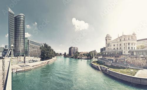 Photo Stands Vienna Danube Canal of Vienna - Austria