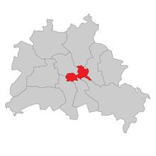 Berlin Friedrichshain-Kreuzberg - Vektor