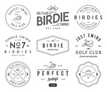 Golf Badges And Labels