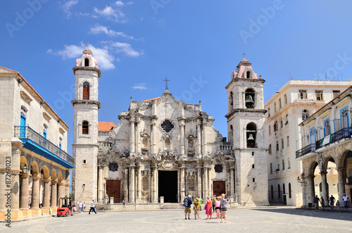 The square of Cathedral in Havana, Cuba