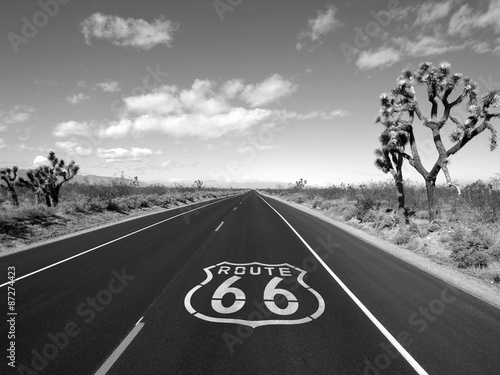 Papiers peints Route 66 Route 66 Mojave Desert Black and White