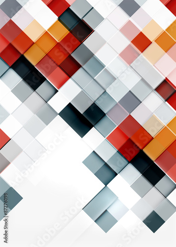 Fotografía  Square shape mosaic pattern design. Universal modern composition