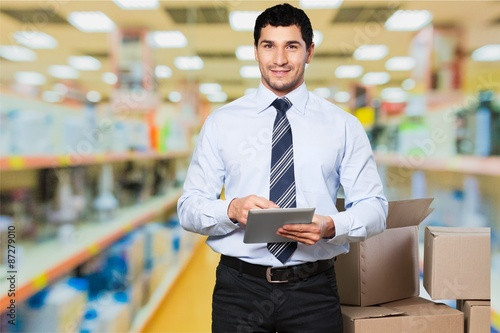 Fototapety, obrazy: Business, retail, worker.