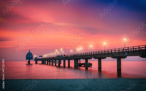 Photo sur Toile Corail Seebrücke in Zinnowitz - Insel Usedom