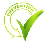 prévention sur symbole validé vert
