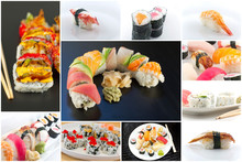 Sushi Food Collage