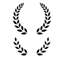 Simple Laurel Wreath - Vector Illustration