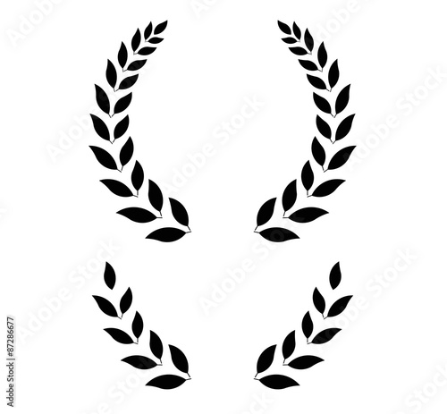 Photo  simple laurel wreath - vector illustration