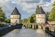 canvas print picture - Broel Towers (Broeltorens) - symbol of city Kortrijk. Belgium.