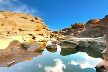 The Beautiful Grand Canyon Name Is Sampanbok In Ubon Ratchathani Thailand