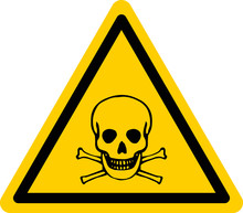 Vector Danger Sign With Skull ...