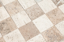 Close Up Of A Large Stone Tile...