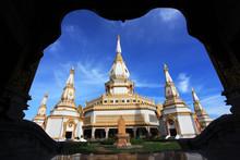 Phra Maha Chedi Chaimongkol Temple At Roi Et Province Thailand