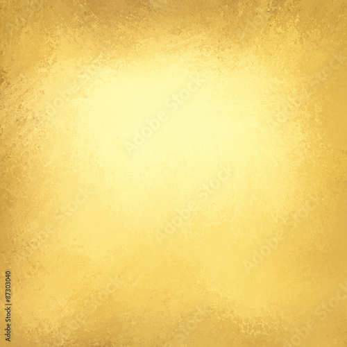 Fotografia  gold background paper, texture is old vintage distressed solid gold color with r
