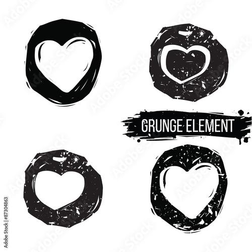 In de dag Cartoon draw Set of abstract sketch hand drawn hearts