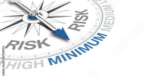 Cuadros en Lienzo  Compass / Risk / Minimum