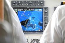 Radar On Flightdeck In Small Plane