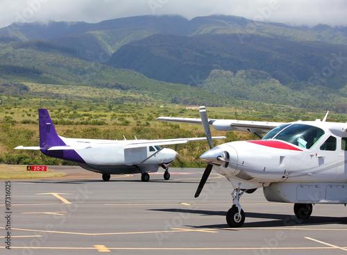 Fotografie, Obraz small plane at hawaiian airport