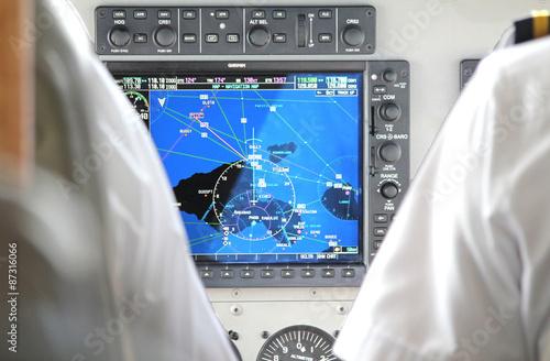radar on flightdeck in small plane Wallpaper Mural