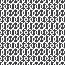 Seamless Pattern Of Intersecting Waves With Swatch For Filling. Celtic Chain Mail. Fashion Geometric Background For Web Or Printing Design.