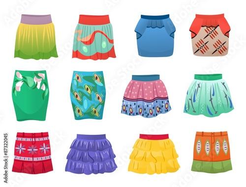 Short summer skirts Wall mural