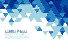 Abstract Blue Triangle Modern Template For Business Or Technolog