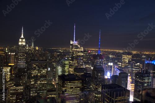 Fotografie, Obraz  Manhattan Skyline and Empire State Building, viewed from Rockefe