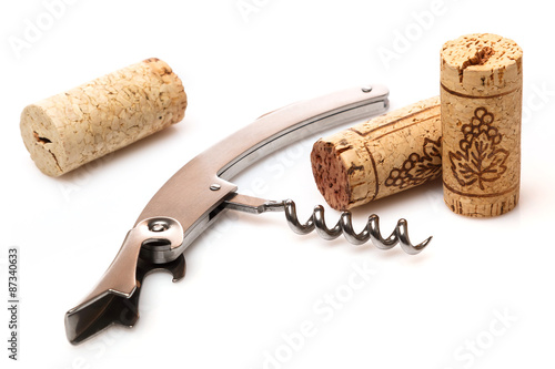 Fotografía  Corkscrew and corks