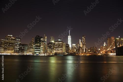 Fototapety, obrazy: Manhattan, New York cityscape at night