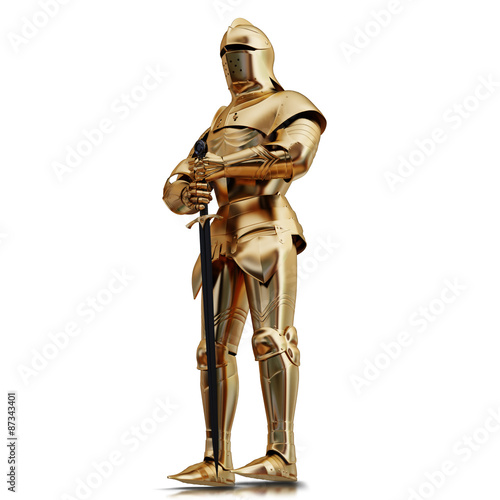 Photo illustration of a Golden armor