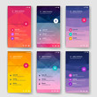 Modern user interface screen template for mobile smart phone or