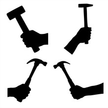 Hammer In Hand Silhouettes