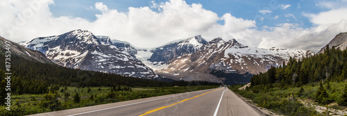 Foto op Canvas Canada Panoramic view of the Canadian Rocky Mountain