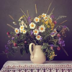 Obraz na Plexi Kwiaty Натюрморт с летним букетом