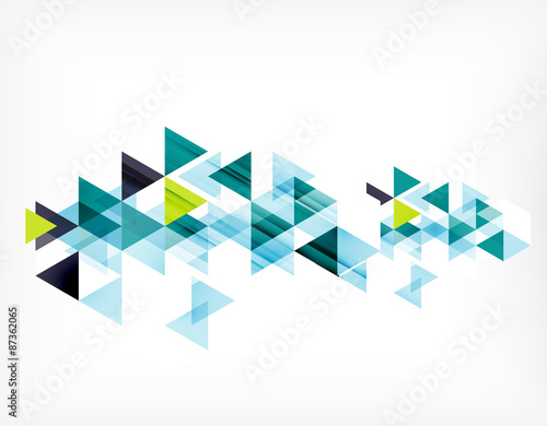 Foto Triangle pattern composition, abstract background with copyspace