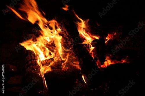 Keuken foto achterwand Vlam Fire