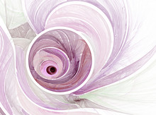 Abstract Pink Fractal Background On The White