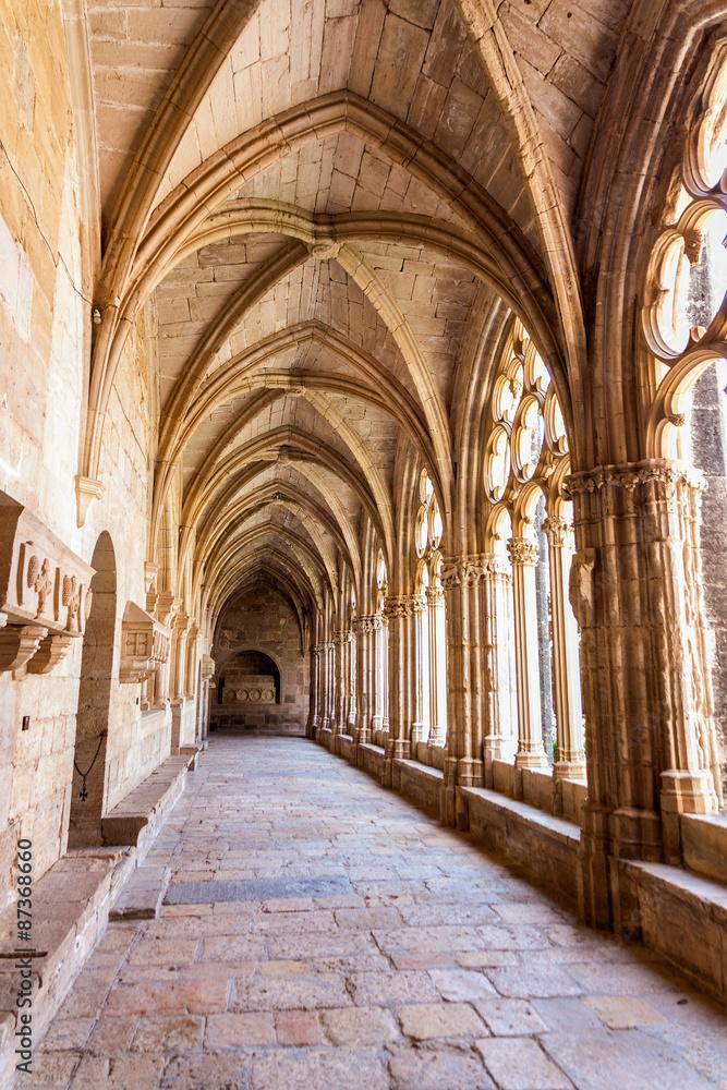 Fototapety, obrazy: view of the cloister of Monastery of Santa Maria de Santes Creus