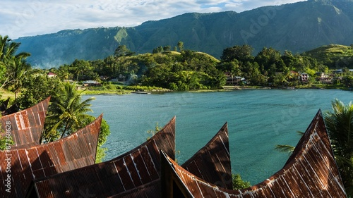 Photo exploring the island of sumatra in indonesia