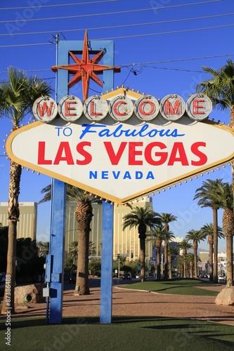 Tuinposter Las Vegas ネオンサイン ラスベガス 観光名所 気をつけて