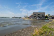 Port Of Antwerp In Sunlight In Summer