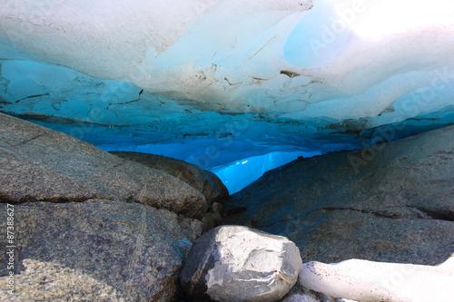 Poster Glaciers Nigardsbreen glacier close-up