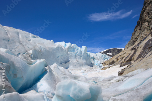 Printed kitchen splashbacks Glaciers Nigardsbreen glacier