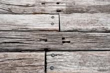 Old Wooden Railway Sleepers Background