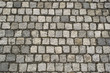 Paved cobblestone street texture