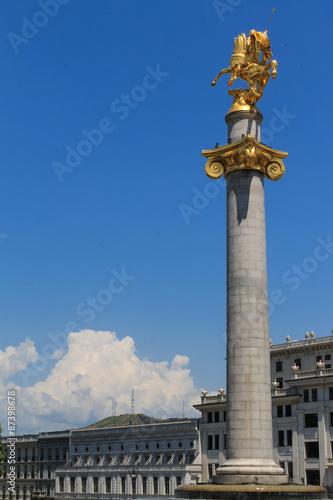Foto op Plexiglas Artistiek mon. Saint George on Freedom square