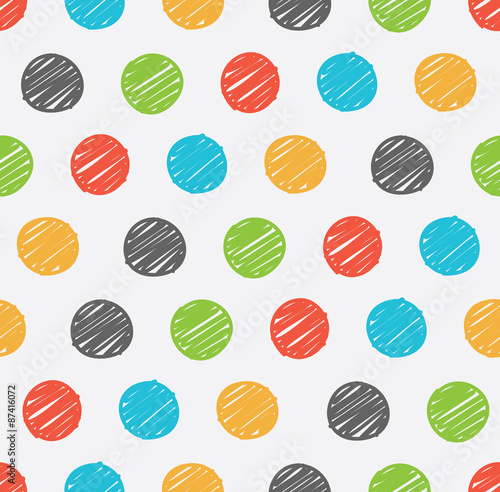 Tapety do pokoju dziewczynki  polka-dot-doodle-seamless-pattern