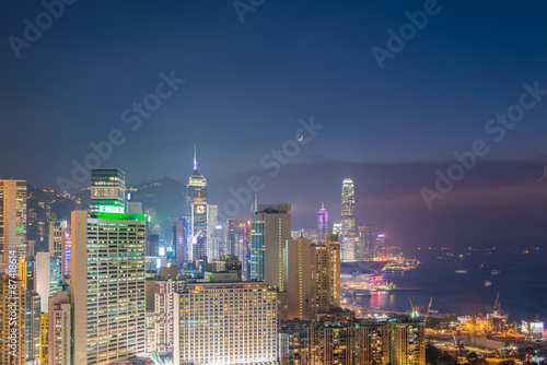Fototapety, obrazy: View of Hong Kong during sunset hours