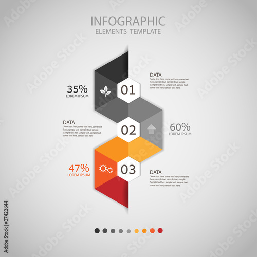Photo  Business concept infographic step to successful,vector illustrat
